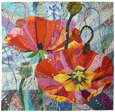 """""""French Impressions: Poppies in Provence"""" by Lin Shinchen. To be seen in the gallery 'Crossing Oceans'"""