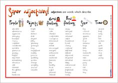 common adjectives