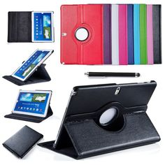 For Samsung Galaxy Note 10.1 inch P600 Tablet PU Leather Case Cover Rotating w/Screen Protective Film+Stylus Pen Free Shipping $11.99