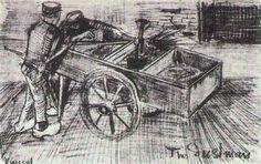 Two Boys near a Cart 1882 Vincent van Gogh