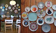 Reinventando a decoração com pratos