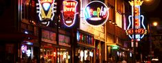 Beale Street, Memphis, TN.  Was here on Saint Patrick's Day.  I loved this place, the people, the food, the blues bands playing.