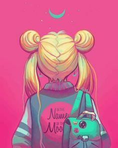 Imagem de sailor moon, art, and anime Arte Sailor Moon, Sailor Moon Fan Art, Sailor Moon Usagi, Sailor Moon Crystal, Sailor Moon Girls, Otaku Anime, Image Swag, Sailor Moon Aesthetic, Sailor Moon Wallpaper