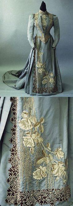 Mme Chamas dress, France, 1890-1892, on Harper's Bazaar Mar 1890