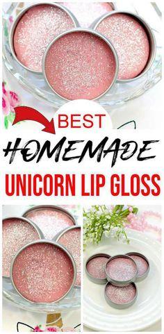 Best Lip Balm, Diy Lip Balm, Unicorn Lip Gloss, Diy Beauty Care, Lip Balm Containers, Diy Lip Gloss, Lip Balm Recipes, Homemade Playdough, Diy Crystals
