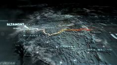 Main title animation & core route map design/animation.  Early concept work for weather transitions at location stages.