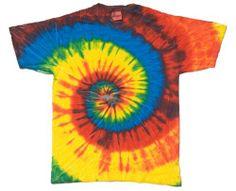 Tie Dye T-Shirts Multi-colors S, M, L, XL, 2X, 3X, 4X, 5X Short Sleeve, Cotton