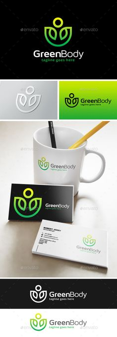 Green Body Fit Logo Template Transparent PNG, Vector EPS, AI Illustrator #logotype Download here: http://graphicriver.net/item/green-body-fit-logo/14035274?ref=ksioks