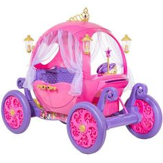 24 Volt Disney Princess Carriage Ride-On for Girls by Dynacraft Image 2 of 11 Little Girl Toys, Toys For Girls, Kids Toys, Cool Girl Toys, Car Girls, Disney Princess Carriage, Disney Princess Toys, Little Princess, Children Toys