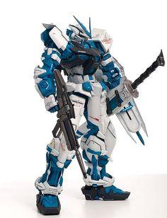 PG 1/60 Gundam Astray Blue Frame: modeled by Matt Mrozek