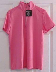Ralph Lauren RLX Women's Golf Shirt, XL, Pink, 1/4 Zip Front, New With Tags #RalphLaurenRLX