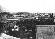 Ville de Roberval - le Boulevard ue St-Joseph vers 1900- au fond l'Hôtel-Chateau-Roberval dit l'Hôtel Beemer  le cran Boily.