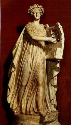 Apollo Musagetes,Roman 2nd century AD Hadrianic period  Museo Pio Clementino  Vaticano