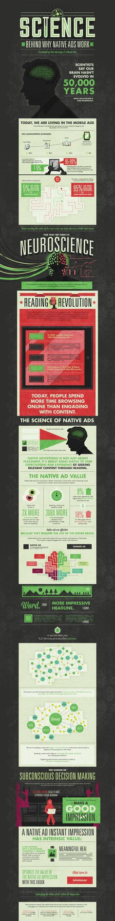 Advertising - The Science Behind Why Native Ads Work [Infographic] : MarketingProfs Article Native Advertising, Advertising Industry, Internet Advertising, Content Marketing, Online Marketing, Social Media Marketing, Digital Marketing, Inbound Marketing, Business Marketing