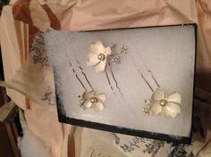 Dogwood Flower Hairpins (3) in Bride Veils & Headpieces at BHLDN