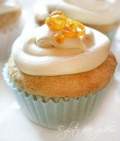 A vegan gluten free orange cupcake