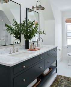 "A Heated Internal Debate - Are There Some Tiles That Are More ""Bathroom"" Than ""Kitchen"" And Are There Rules? - Emily Henderson Kitchen Backsplash Photos, Kitchen Tile, Kitchen Design, Vanity Countertop, Countertops, Marble Counters, Bathroom Interior, Bathroom Ideas, Bathroom Organization"
