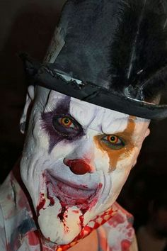 Halloween 1st application clown makeup 2014 by pinner Layke Ensor