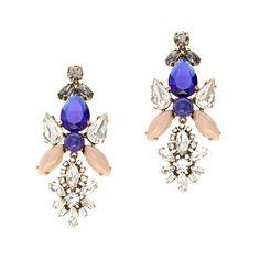 Crystal symmetry earrings by: J.Crew