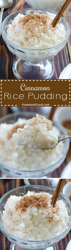 Cinnamon Rice Pudding – creamy, healthy and so delicious dessert! This Cinnamon … Cinnamon Rice Pudding – creamy, healthy and so delicious dessert! This Cinnamon Rice Pudding is very easy to make and turns out so rich and tasty! Healthy Desserts, Easy Desserts, Delicious Desserts, Dessert Recipes, Yummy Food, Dessert Food, Cinnamon Desserts, Mexican Desserts, Tasty Meals