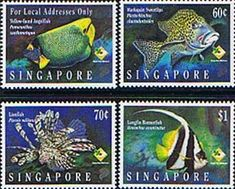Singapore 1995 Marine Fishes Set Fine Mint SG 276/8 Scott 251/3 Other Asian and British Commonwealth Stamps HERE!