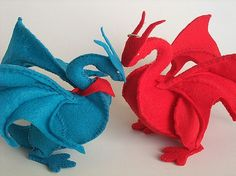 Camelot Dragon Plush PATTERN PDF by LynneDhenson on Etsy