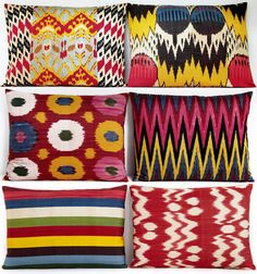 Yastik brings some Turkish sunshine  - Ikat cushions by Rifat Ozbek