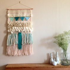 CUSTOM weaving for Eleanor Ayres woven wall hanging by Maryanne Moodie Weaving Wall Hanging, Weaving Art, Weaving Patterns, Tapestry Weaving, Loom Weaving, Wall Tapestry, Hand Weaving, Wall Hangings, Diy Laine