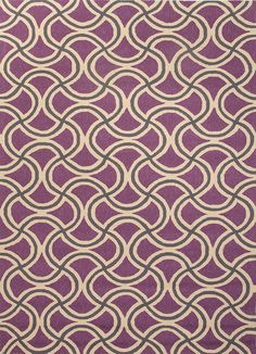 Barcelona Collection Barbells Rug in Purple design by Jaipur