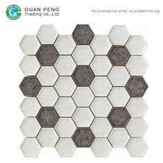 Ice Crack Porcelain Hexagon Mosaic Wall Tile