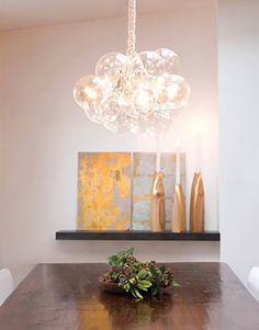 diy for bubble Chandelier, this was originally from ReadyMade (which is no longer around), so here's the tutorial for it from Fentalks blog http://www.femtalks.com/home-garden/make-your-own-diy-bubble-chandelier/