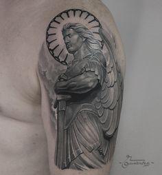 Arhangel Mikael tattoo by Gollandets Art