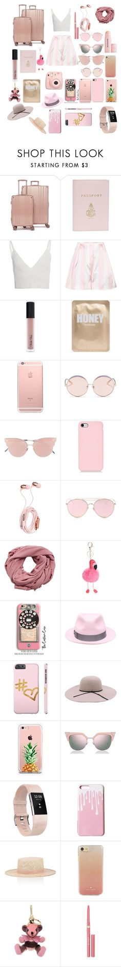 """Pink Voyage"" by cananelets ❤ liked on Polyvore featuring CalPak, Mark Cross, Zeynep Arçay, Edit, Violet Voss, N°21, So.Ya, LMNT, MANGO and Samsung"