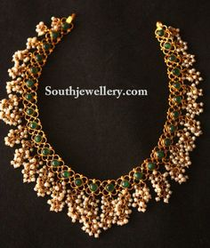 Gutta Pusalu latest jewelry designs - Page 6 of 28 - Indian Jewellery Designs Indian Gold Necklace Designs, Latest Necklace Design, Indian Wedding Jewelry, Indian Jewelry, Bridal Jewelry, Indian Bridal, Gold Temple Jewellery, Gold Jewellery Design, Gold Jewelry Simple