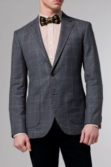 Merino Windowpane houndstooth custom blazer made-to-measurements
