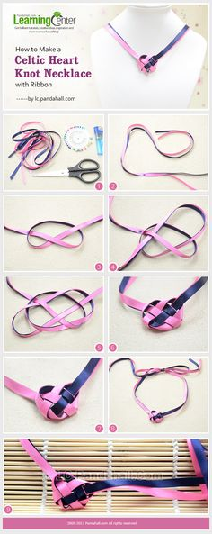 How to Make a Celtic Heart Knot Necklace with Ribbon