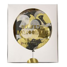 Gold And Silver Confetti Balloon Kit by ZeenehParty on Etsy