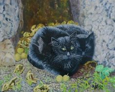 A Gallery of Cat Art. Blog and art by Caroline Street