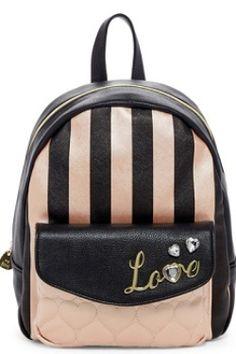 Love Turn Embellished Backpack 1