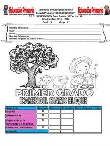 ExamenPrimerGrado4toBloque   Educación Primaria