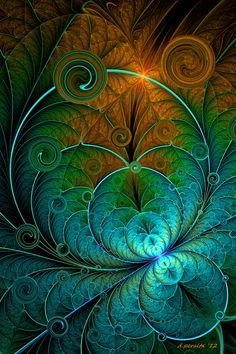 Digital Fractal - Mysterious and lovely!