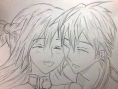 my drawing, Kirito and Asuna :D