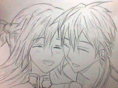 my drawing, Kirito and Asuna :D