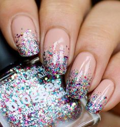 If you decide to spend this craziest night in a disco this manicure will be the right choice for you.
