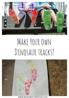 Dinosaur Activities: Make Your Own Dinosaur Tracks!