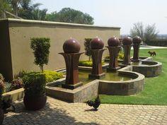 Garden Landscaping, Swimming Pools, Fountain, Garden Design, Gardens, Landscape, Outdoor Decor, Home Decor