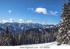 #Winter #Scenery With #Trees #Snow #Mountains And #Blue #Sky @Bigstock #Bigstock #ktr14 #landscape #nature #view #panorama #stock #photo #austria #carinthia #download #portfolio #hires