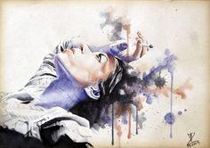 MoP_Cigarette_03, Media: Watercolor on paper, Size: A4 (21 x 30 cm) by Miro Zgabaj https://www.facebook.com/pages/Miroslav-Zgabaj-Drawing-Painting/114161501988357?ref=aymt_homepage_panel