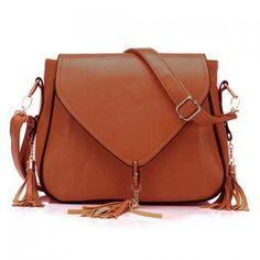 Fashion Cover and Tassels Design Women's Shoulder Bag