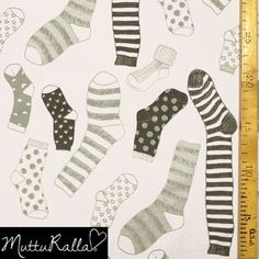 Harmaa Sock'n'roll - jersey (kapynen.fi 2.35€)